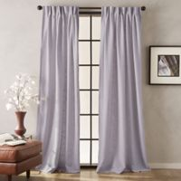 Peri Memphis 84-Inch Pinch Pleat Light-Filtering Window Curtain Panel in Heather Grey