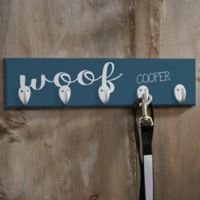 Personalized Woof & Meow Leash Hanger