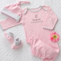 Baby Aspen Welcome Home Baby Personalized Gift Set for Girls