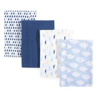 Luvable Friends® 4-Pack Clouds Burp Cloth Set in Blue