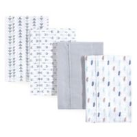 Luvable Friends® 4-Pack Feather Burp Cloth Set in Blue