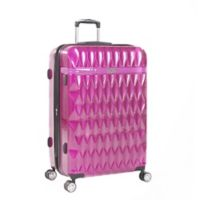 Kathy Ireland® Kelly 29-Inch Hardside Spinner Checked Luggage in Purple
