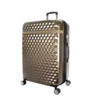 Kathy Ireland® Audrey 29-Inch Hardside Spinner Checked Luggage in Tan