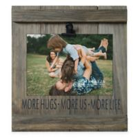 5-Inch x 7-Inch More Hugs Distressed Pallet Wood Clip Frame