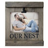 "5-Inch x 7-Inch ""Our Nest"" Distressed Pallet Wood Clip Frame"