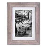 Shelby 4-Inch x 6-Inch Wood Picture Frame in Grey/White