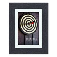 Shelby 4-Inch x 6-Inch Wood Picture Frame in Black/White