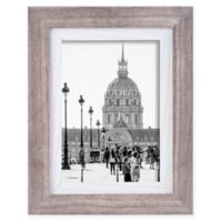 Shelby 5-Inch x 7-Inch Wood Picture Frame in Grey/White