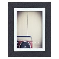 Shelby 5-Inch x 7-Inch Wood Picture Frame in Black/White