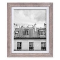 Shelby 8-Inch x 10-Inch Wood Picture Frame in Grey/White