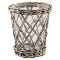 Bee & Willow™ Home Small Willow-Wrapped Glass Hurricane Candle Holder