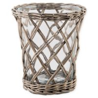 Bee & Willow™ Home Medium Willow-Wrapped Glass Hurricane Candle Holder
