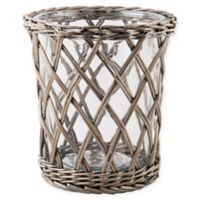Bee & Willow™ Home Large Willow-Wrapped Glass Hurricane Candle Holder