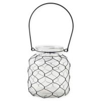 Bee & Willow™ Home Small Wire-Wrapped Glass Hurricane Candle Holder