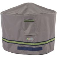 Soteria Polyester Water-Resistant 50-Inch Round Fire Pit Cover in Grey