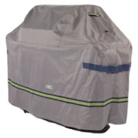 Soteria Polyester Water-Resistant 67-Inch Grill Cover in Grey