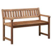 Linon Home Blaise Catalan Bench in Teak