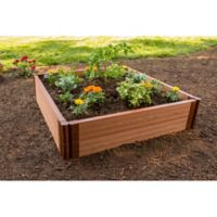 Frame It All Star 4' x 4' Square Garden Bed in Sienna