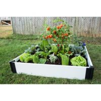 Frame It All 4-Foot x 4-Foot Raised Garden Bed in White