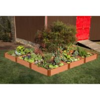 Frame It All 12-Foot x 12-Foot L-Shaped Raised Garden Bed in Sienna