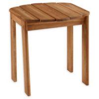 Linon Home Blaise Adirondack Outdoor End Table in Teak