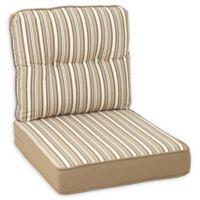 Destination Summer 23-Inch Outdoor Deep Seat Chair Cushion in Beige Stripe