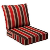Destination Summer 23-Inch Outdoor Deep Seat Chair Cushion in Red Stripe