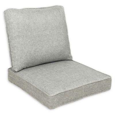Destination Summer 22 Inch Outdoor Deep Seat Chair Cushion In Machine Grey