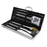 Home-Complete 7-Piece Stainless Steel BBQ Grill Tool Set
