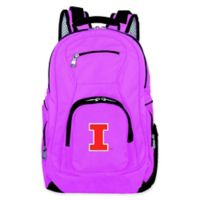 University of Illinois Laptop Backpack in Pink