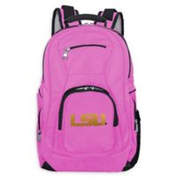 Louisiana State University Laptop Backpack in Pink