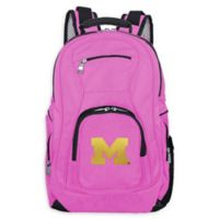 University of Michigan Laptop Backpack in Pink