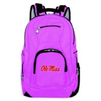 University of Mississippi Laptop Backpack in Pink