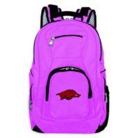 University of Arkansas Laptop Backpack in Pink