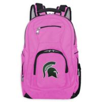 Michigan State University Laptop Backpack in Pink