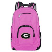 University of Georgia Laptop Backpack in Pink