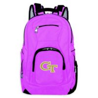Georgia Tech Laptop Backpack in Pink