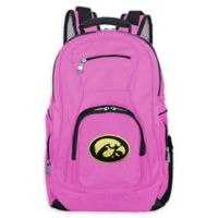 University of Iowa Laptop Backpack in Pink