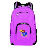 University of Kansas Laptop Backpack in Pink