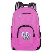 University of Kentucky Laptop Backpack in Pink
