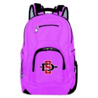 San Diego State University Laptop Backpack in Pink