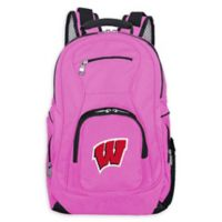 University of Wisconsin Laptop Backpack in Pink