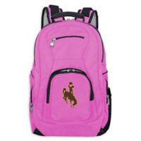 University of Wyoming Laptop Backpack in Pink