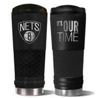 NBA Brooklyn Nets 24 oz. Powder Coated STEALTH Draft Tumbler