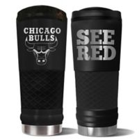 NBA Chicago Bulls 24 oz. Powder Coated STEALTH Draft Tumbler