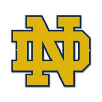 University of Notre Dame 10-Inch x 12-Inch Laser Cut Street Sign