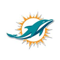 NFL Miami Dolphins 9-Inch x 12-Inch Laser Cut Street Sign