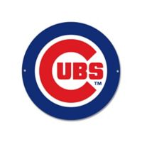 MLB Chicago Cubs Circle Logo 12-Inch x 12-Inch Laser Cut Street Sign