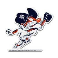 MLB Detroit Tigers Outfield Kitty Logo 12-Inch x 12-Inch Laser Cut Street Sign