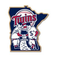 MLB Minnesota Twins 10-Inch x 11-Inch Laser Cut Street Sign